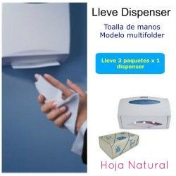 Solicite su dispensador Toalla Multifolder Natural