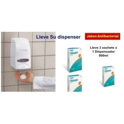 Dispensador Jabon Antibacterial 800ml