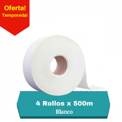 Papel Higienico Jumbo hoja Simple 4 Rollos x 500mt