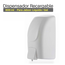 Dispensador Jabon Recargable 600ml