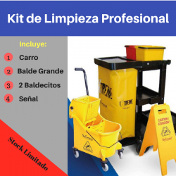 Carrito para Limpieza Industrial - Kit Completo