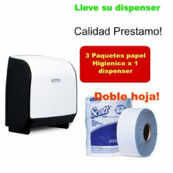 Solicite Dispensador papel Higienico 2 hoja