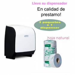 Solicite Dispensador papel Higienico Natural