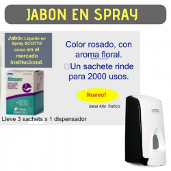 Dispensador Jabon Spray 800ml