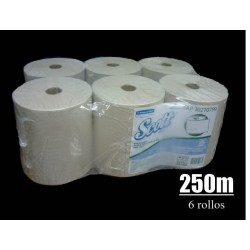 Toalla Papel Natural cja x 6 rollos x 250MT