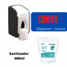 Dispensador + Sachet de Sanitizador de 400 ml